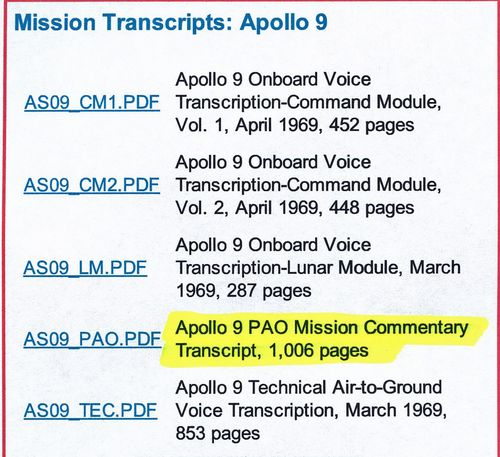 NasaMissionTranscripts-Apollo9b